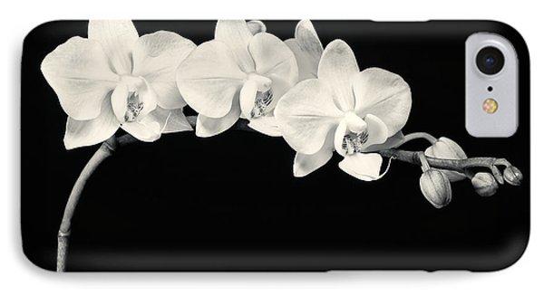 White Orchids Monochrome IPhone 7 Case