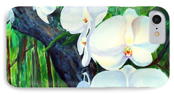 White Orchid's IPhone Case