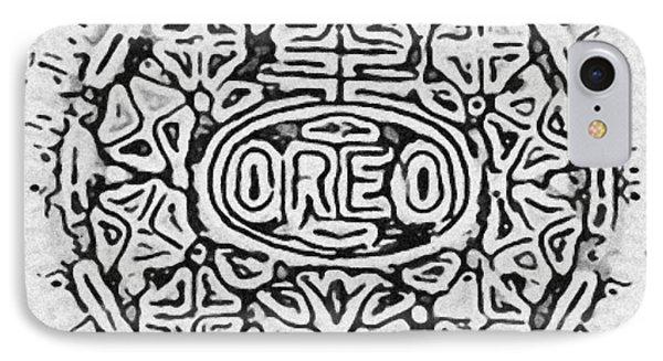 White Oreo IPhone Case