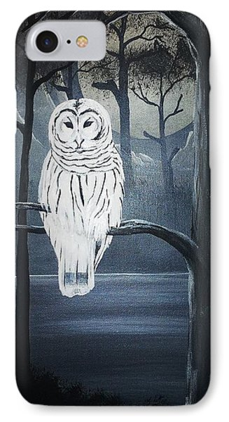 IPhone Case featuring the painting White Owl  by Edwin Alverio