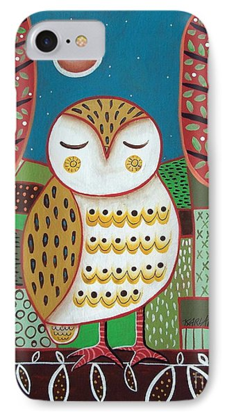 White Owl IPhone Case by Karla Gerard
