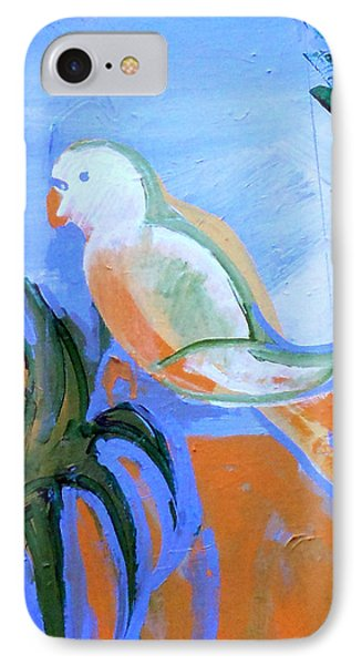 White Parakeet Phone Case by Genevieve Esson