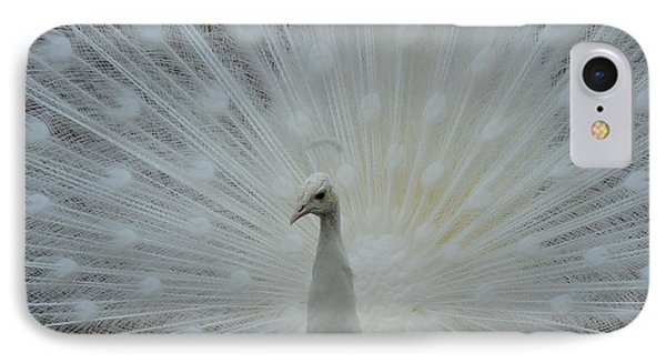 White Peacock Phone Case by T C Brown