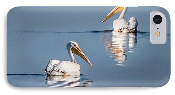 IPhone Case featuring the photograph White Pelicans by Patti Deters