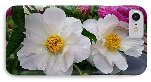 IPhone Case featuring the photograph White Peony Flower by Rose Wang