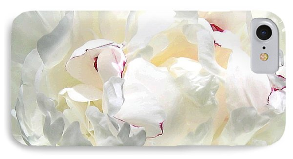 White Peony Phone Case by Will Borden