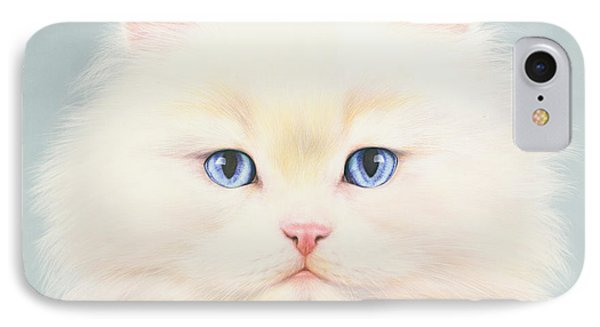 White Persian Phone Case by Andrew Farley