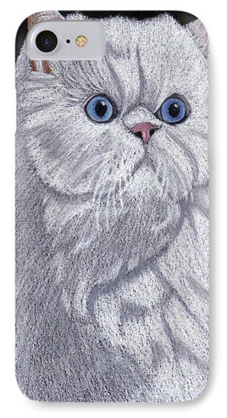 White Persian Vignette Phone Case by Anita Putman