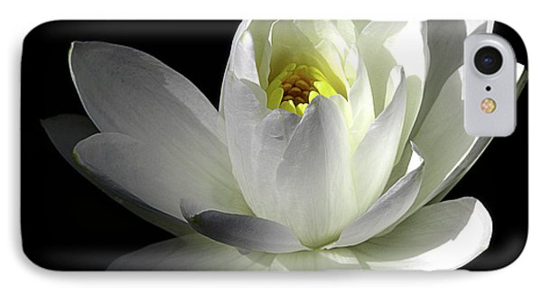 White Petals Aquatic Bloom IPhone Case by Julie Palencia