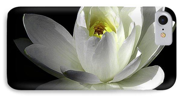 White Petals Aquatic Bloom IPhone Case