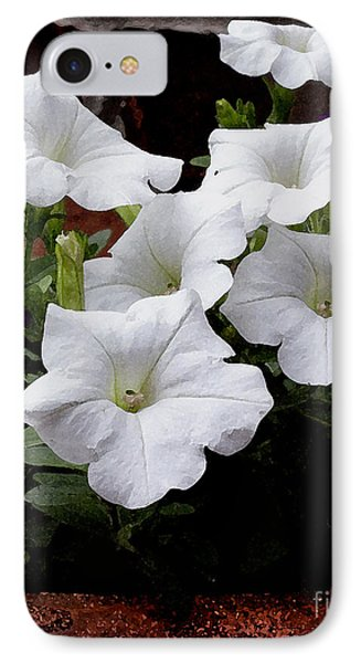 IPhone Case featuring the photograph White Petunia Blooms by James C Thomas