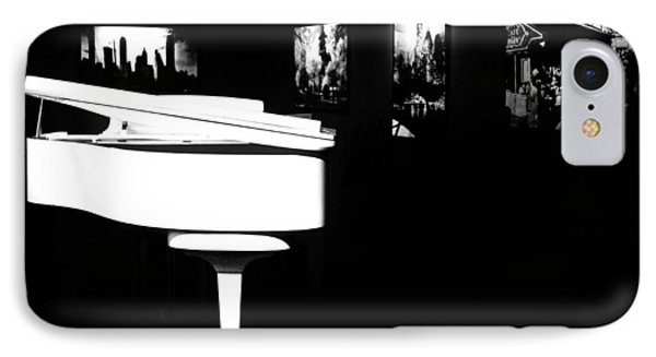 White Piano Phone Case by Benjamin Yeager