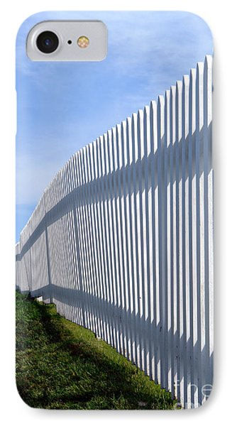 White Picket Fence Phone Case by Olivier Le Queinec
