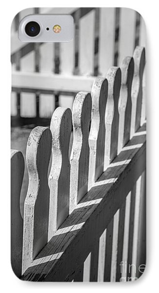 White Picket Fence Portsmouth IPhone Case by Edward Fielding