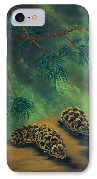 White Pine  And Cones IPhone Case by Sharon Duguay