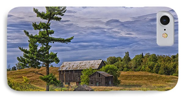 White Pine And Old Barn IPhone Case by Gary Hall