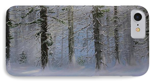 IPhone Case featuring the painting White Pines by Ken Ahlering
