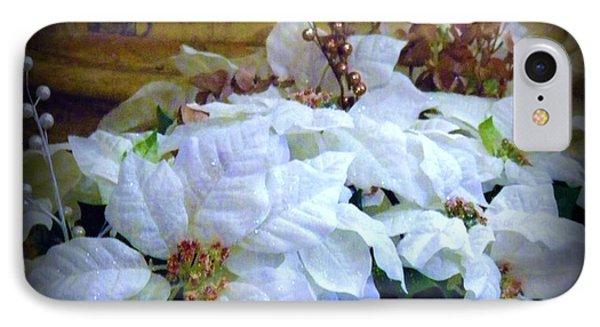 White Poinsettia IPhone Case by Michelle Frizzell-Thompson