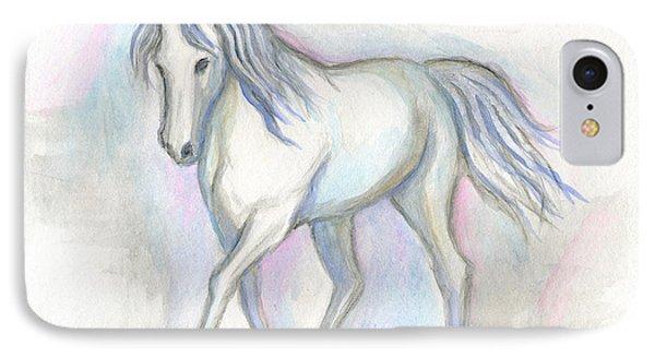 White Pony IPhone Case by Roz Abellera Art