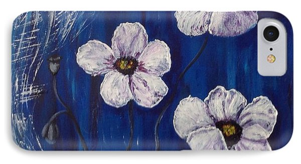 White Poppies  IPhone Case by Renate Voigt