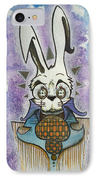 White Rabbit IPhone Case by Ellen Henneke