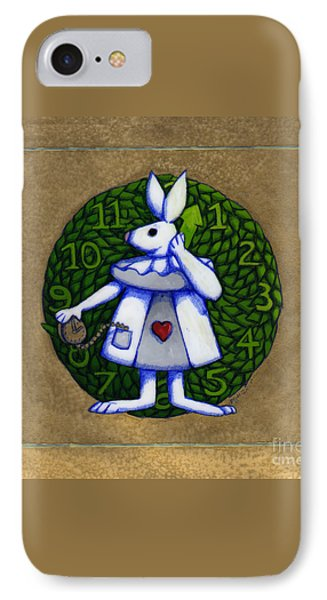 IPhone Case featuring the mixed media White Rabbit Wonderland by Donna Huntriss