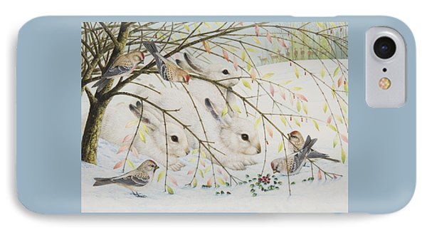 White Rabbits IPhone Case by Lynn Bywaters