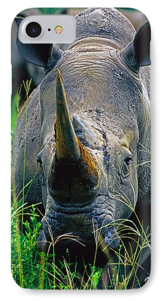 IPhone Case featuring the photograph White Rhino by Dennis Cox WorldViews