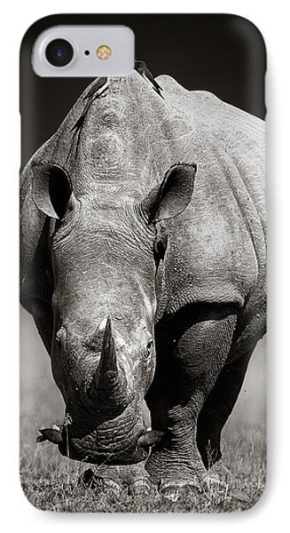 White Rhinoceros  In Due-tone IPhone Case by Johan Swanepoel