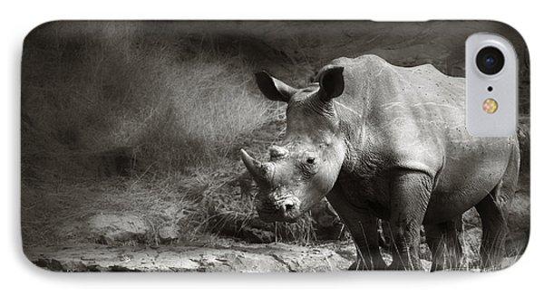 White Rhinoceros Phone Case by Johan Swanepoel