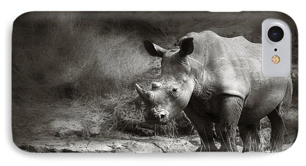 White Rhinoceros IPhone Case