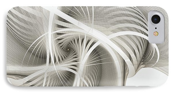 White Ribbons Spiral IPhone Case by Karin Kuhlmann