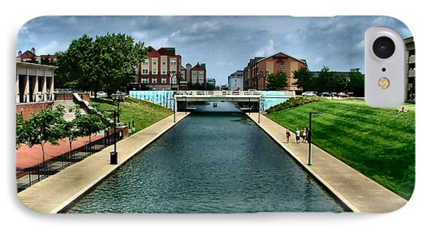 White River Park Canal In Indy Phone Case by Julie Dant
