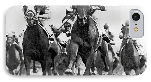 White River With Jockey Tommy Barrow IPhone Case by Underwood Archives
