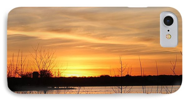 White Rock Lake Sunset Phone Case by Lorri Crossno