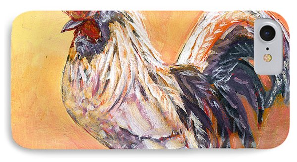 White Rooster Phone Case by Jennifer Lommers