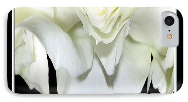 White Rose Abstract Phone Case by Rose Santuci-Sofranko