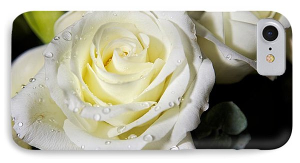 White Rose IPhone Case by Dave Files