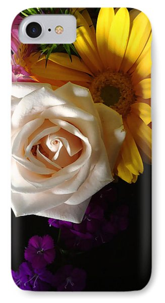 IPhone Case featuring the photograph White Rose by Meghan at FireBonnet Art