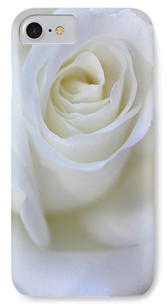 White Rose Floral Whispers Phone Case by Jennie Marie Schell