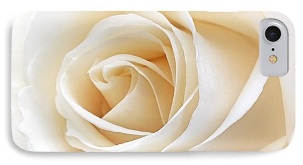 White Rose Heart IPhone Case by Gill Billington