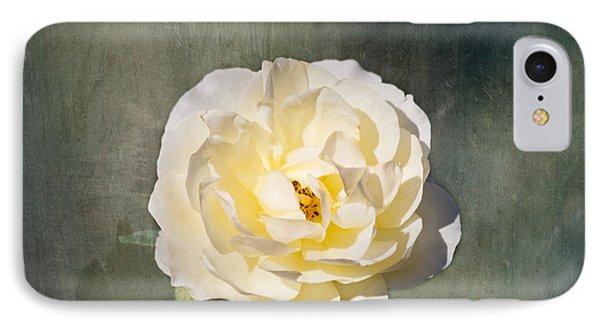 White Rose Phone Case by Kim Hojnacki