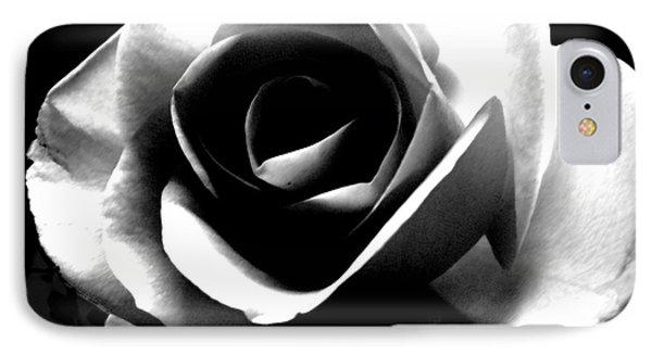 White Rose Phone Case by Nina Ficur Feenan