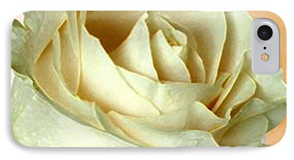 IPhone Case featuring the photograph White Rose On Sepia by Nina Silver