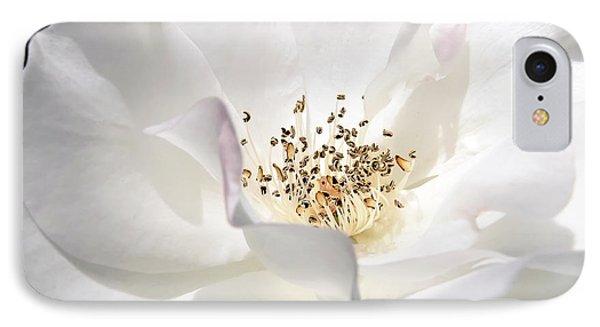 White Rose Petals Phone Case by Jennie Marie Schell