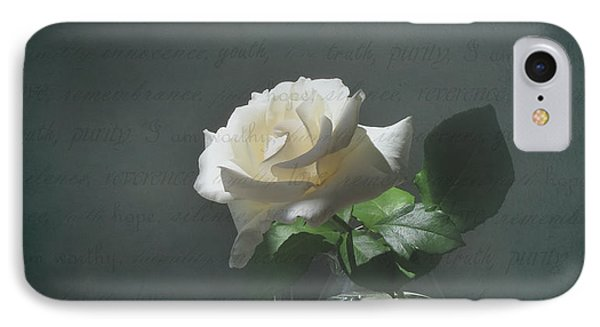 White Rose Still Life IPhone Case by Deborah Smith