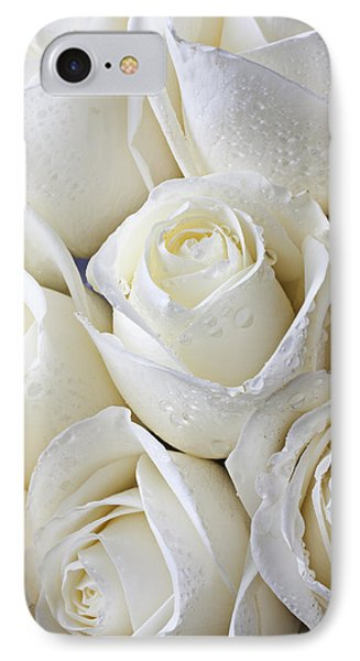 White Roses IPhone Case by Garry Gay