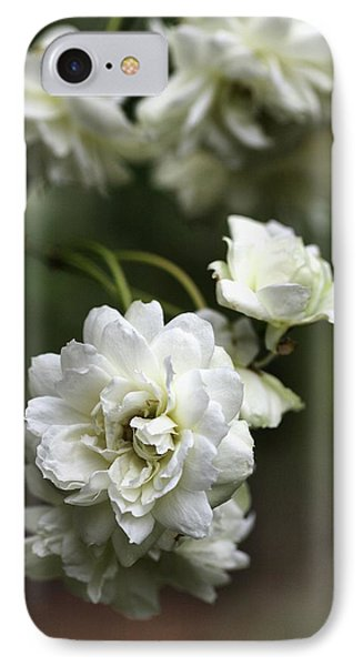 IPhone Case featuring the photograph White Roses by Joy Watson