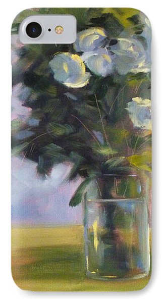 White Roses Phone Case by Nancy Merkle