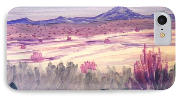 White Sand Purple Hills IPhone Case by Suzanne McKay